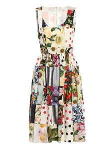 Dolce & Gabbana - Patchwork printed dress in multicolor