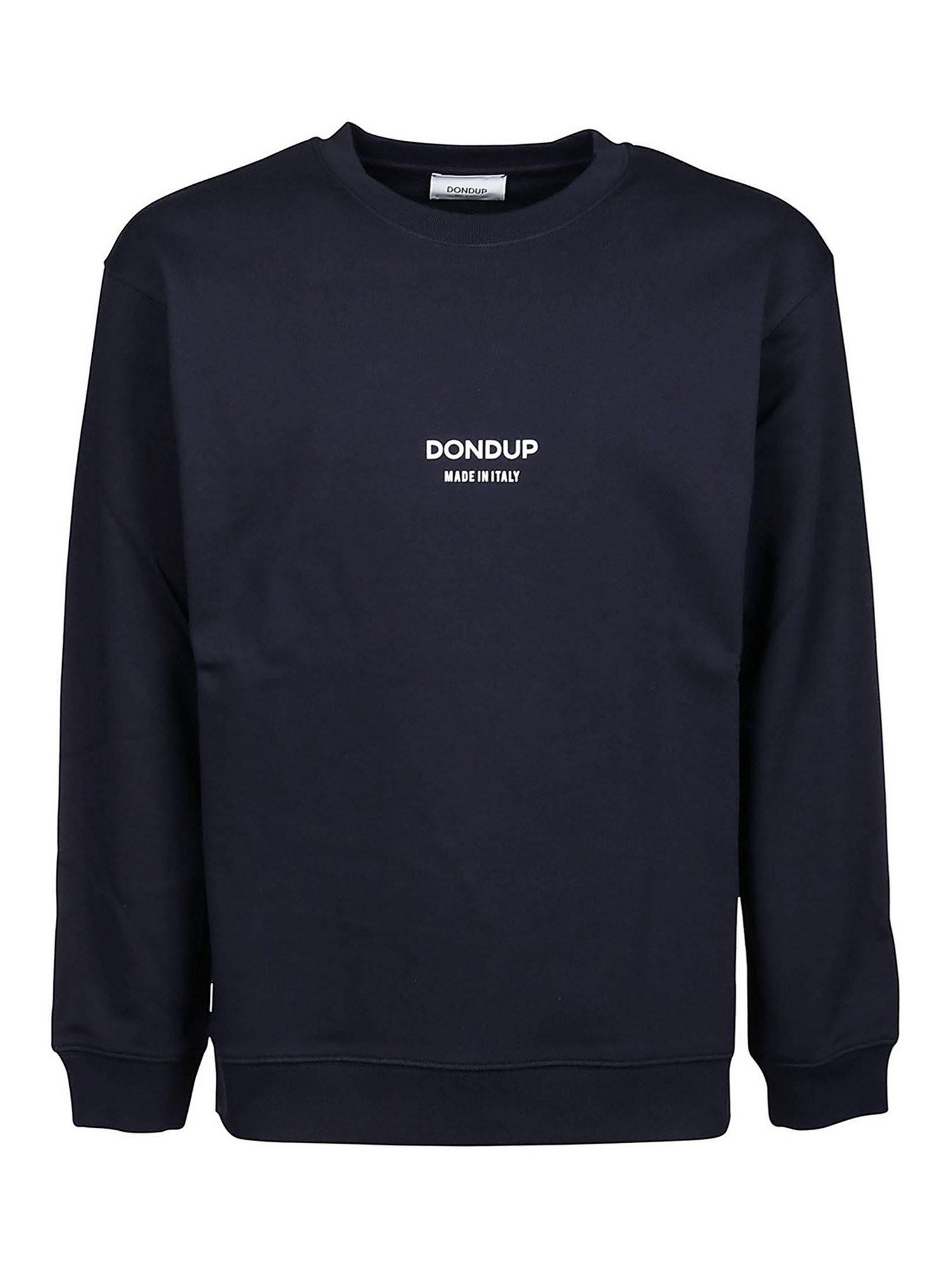 Dondup Cottons LOGO SWEATSHIRT IN BLUE