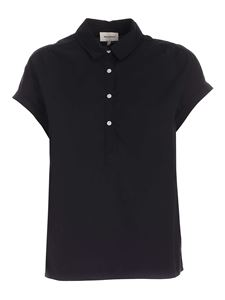 Woolrich - Relaxed fit blouse in black