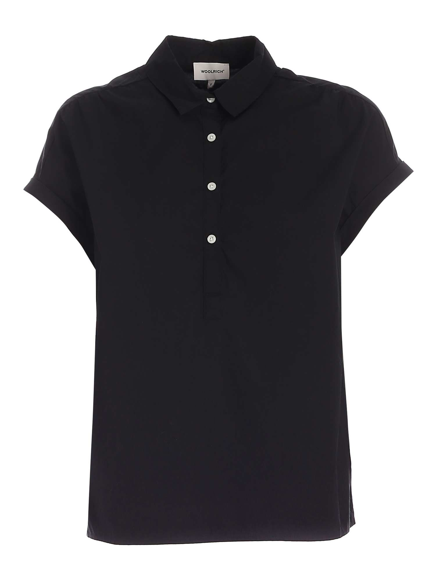 Woolrich RELAXED FIT BLOUSE IN BLACK