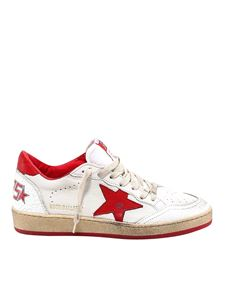 Golden Goose - Ball Star sneakers in white and red
