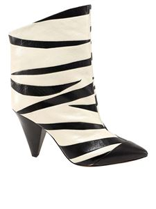 Isabel Marant - Leebu ankle boots in black and white