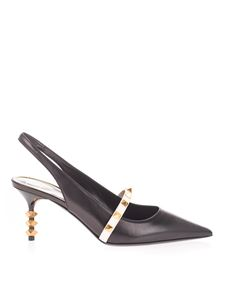 Valentino Garavani - Rockstud slingback in black and ivory