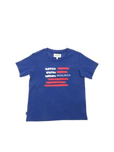 Woolrich - Flag T-shirt in electric blue