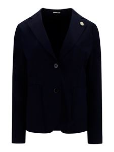 Lardini - Blazer in cotone stretch blu