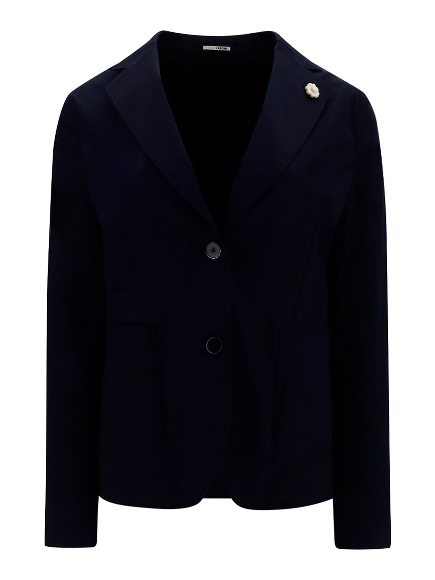 Lardini STRETCH COTTON BLAZER IN BLUE