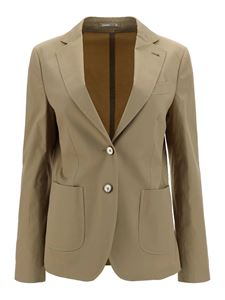 Lardini - Blazer in cotone stretch beige