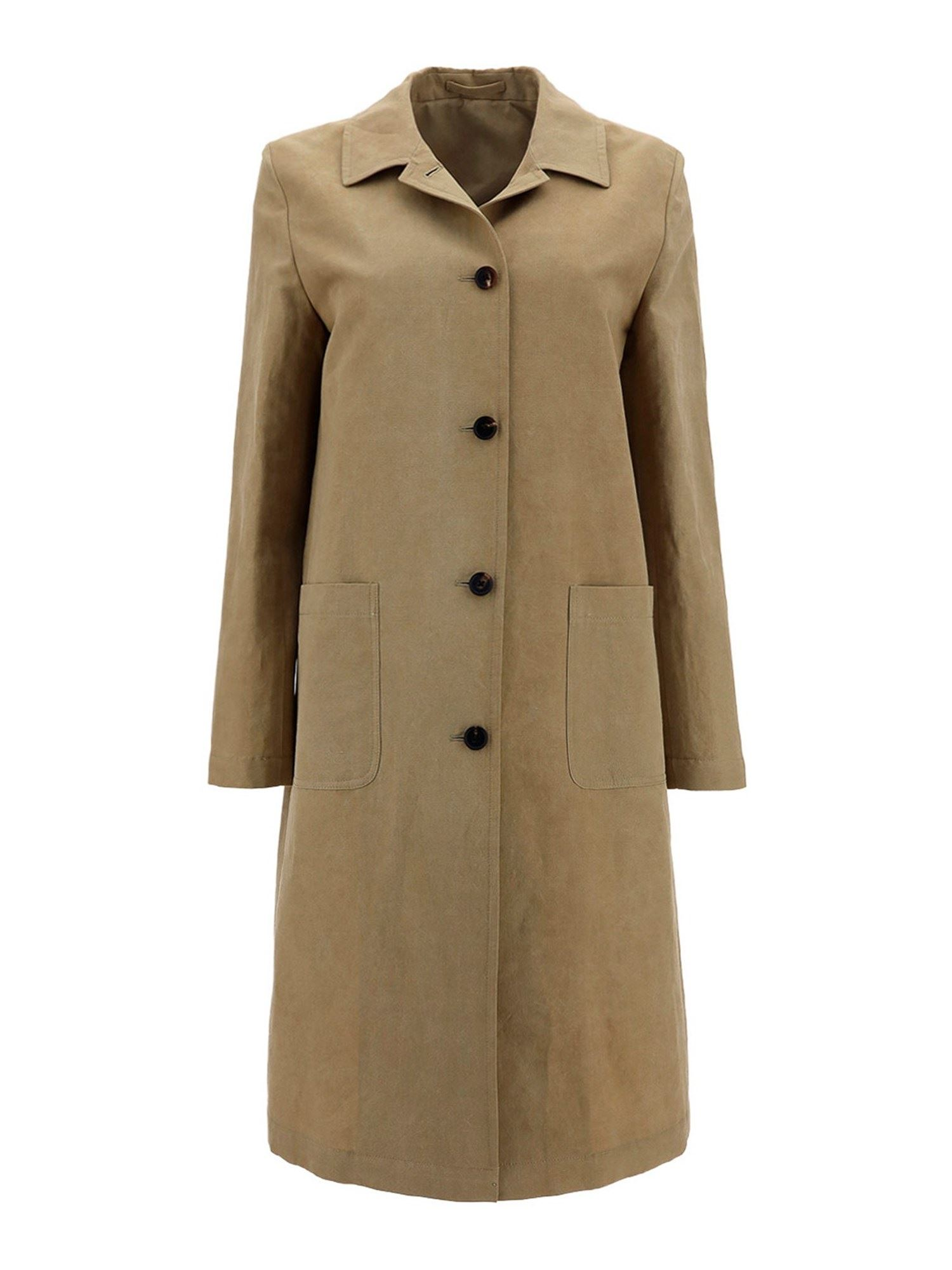 Lardini Cottons COTTON-VISCOSE TRENCH COAT IN BEIGE
