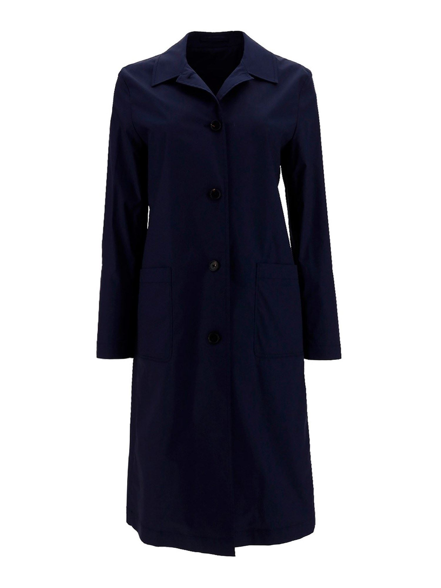 Lardini Cottons COTTON-BLEND TRENCH COAT IN BLUE