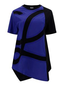 Loewe - Cotton asymmetric T-shirt in blue and black