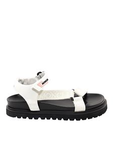 Moncler - Fabric sandals in white
