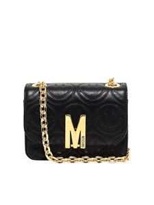 Moschino - Smile embossed leather bag in black