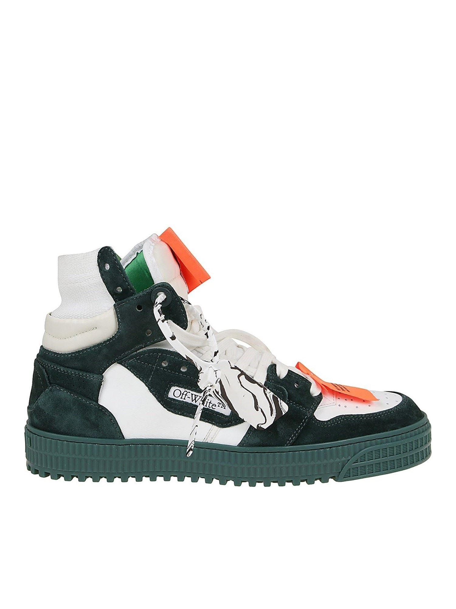 Off-White Suedes 3.0 OFF COURT SNEAKERS IN GREEN