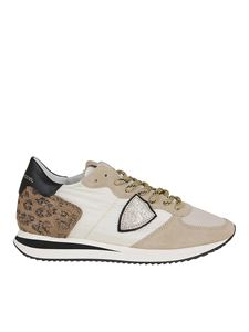 Philippe Model - Tropez X sneakers in white and beige