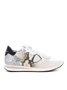 Philippe Model - Trpx python print sneakers in white