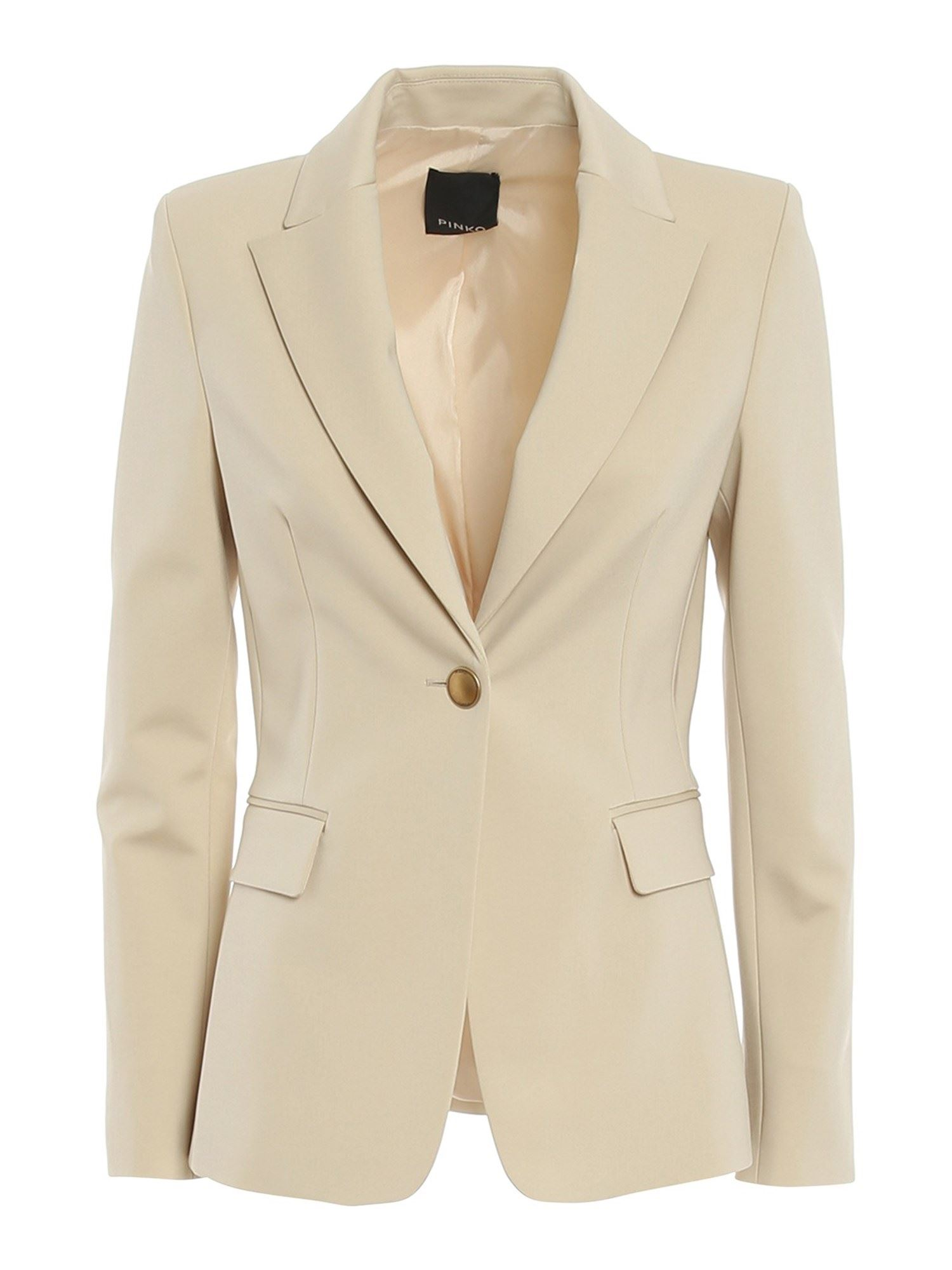 Pinko PINKO SIGMA 2 BLAZER IN SABBIA MOVENTE COLOR