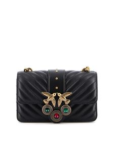 Pinko - Borsa Mini Love Icon V Quilt nera