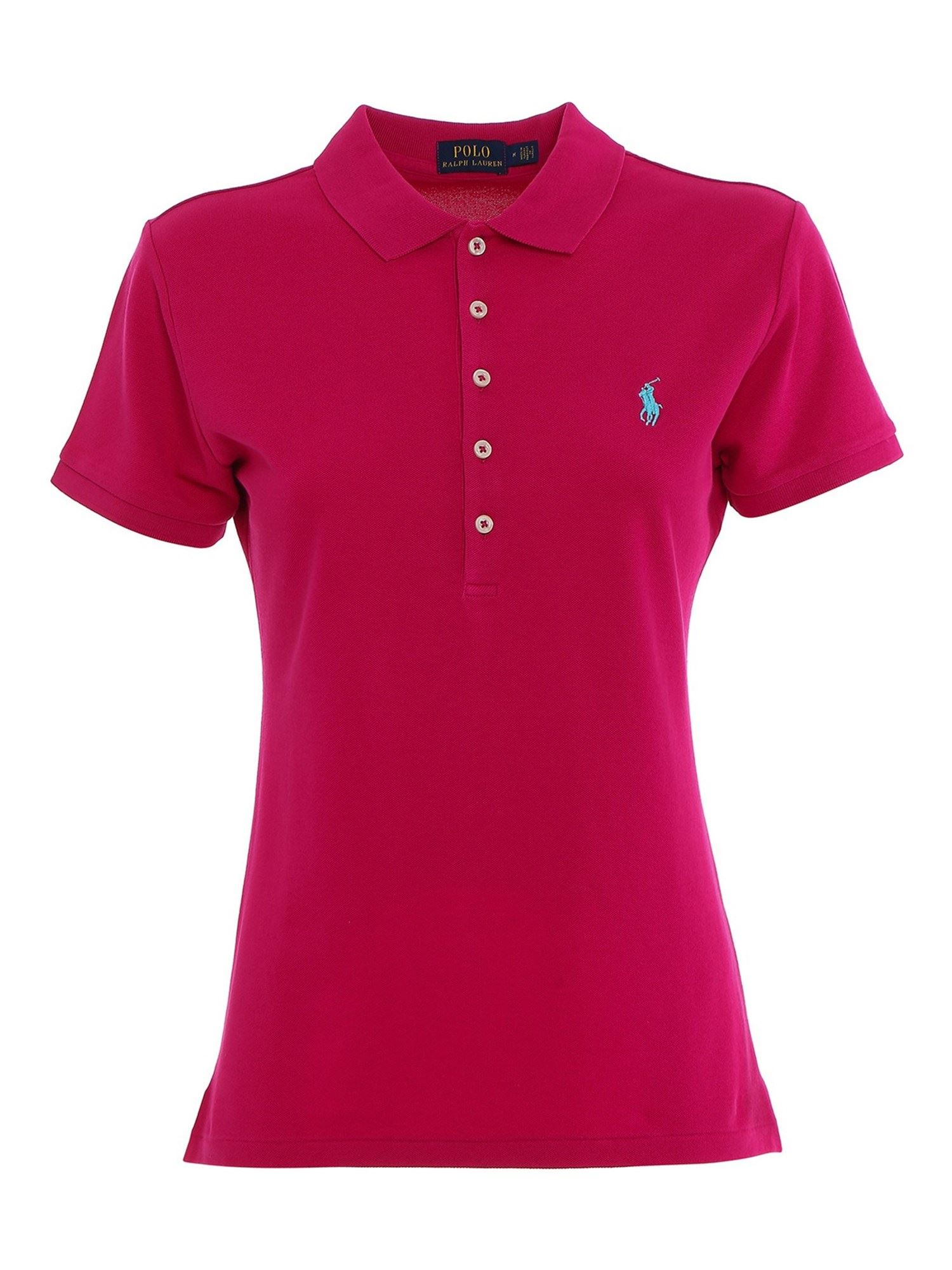 Ralph Lauren SLIM FIT COTTON POLO SHIRT IN PINK