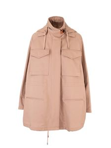 Loewe - Military hooded parka in beige