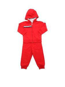 Moncler Jr - Completo rosso con patch logo