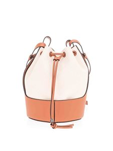 Loewe - Balloon bag in canvas and brown leather
