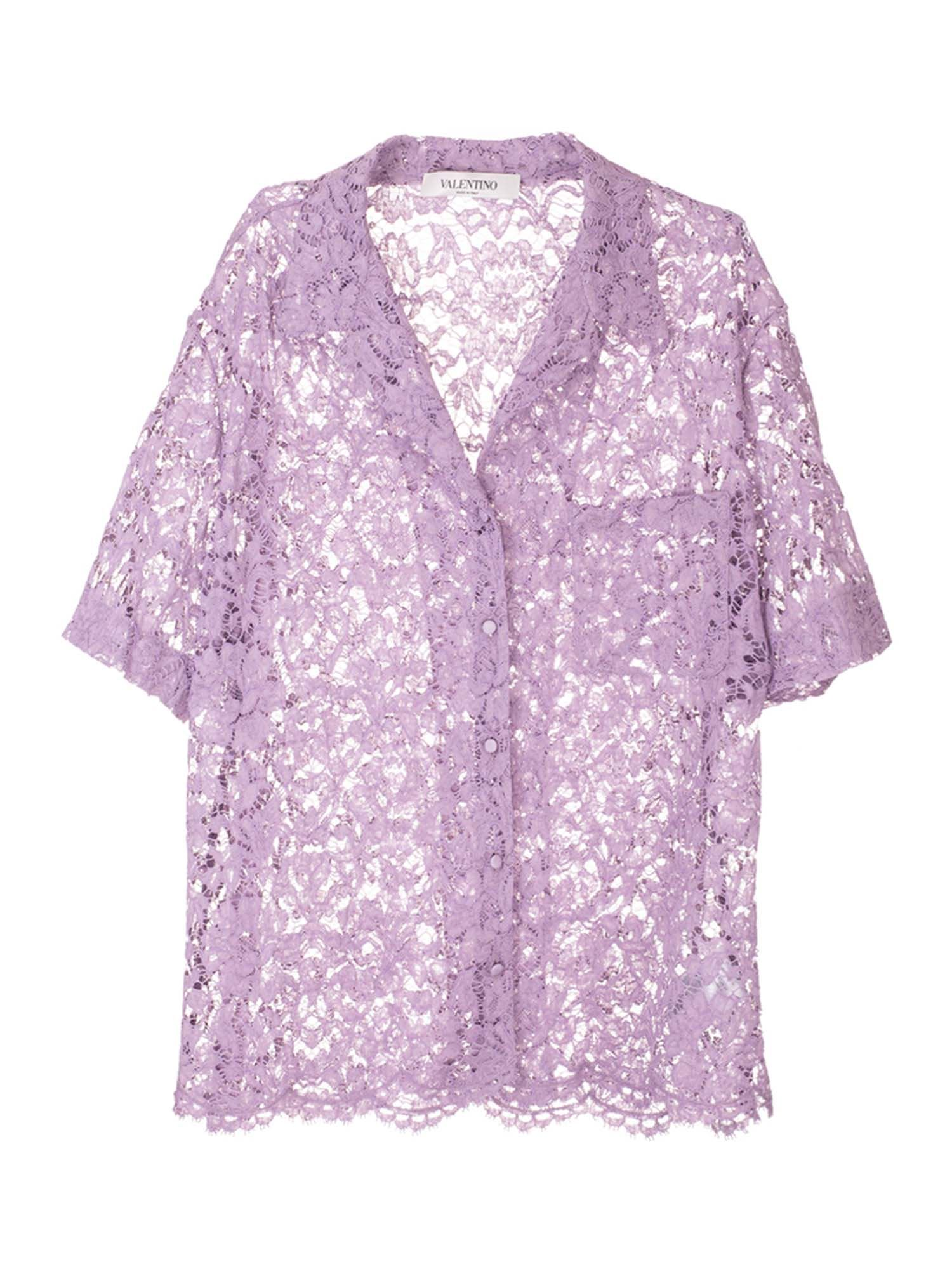 Valentino LACE SHIRT IN VIOLET