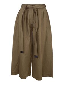 Loewe - Cotton and linen trousers in Khaki