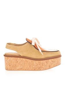 Loewe - Wedge sling back loafers in camel color