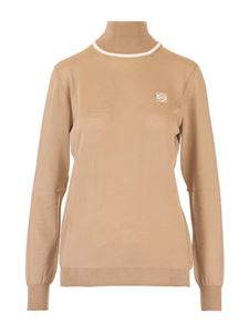 Loewe - Anagram cashmere turtleneck in camel color