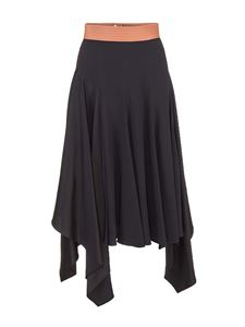 Loewe - Asymmetrical skirt in black