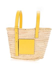 Loewe - Braided bag in beige and yellow