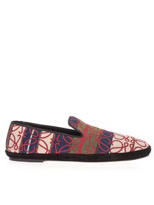 Loewe - Multicolor Anagram embroidery loafers