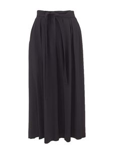 Loewe - Viscose crop trousers in black
