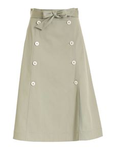 Fay - Buttons skirt in sage green