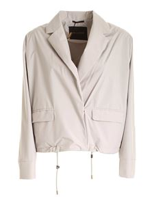 Moorer - Luana jacket in pearl grey