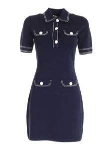 Michael Kors - Contrasting stitching dress in blue