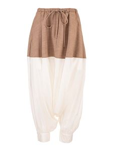 Loewe - Two-tone pants in beige and white