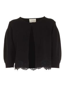 Blumarine - Lace detail cardigan in black