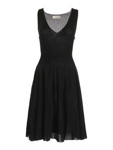 Blumarine - Lamé sleeveless dress in black