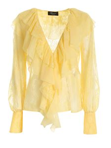 Blumarine - Lace blouse in yellow