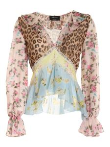 Blumarine - Lace print multicolor blouse