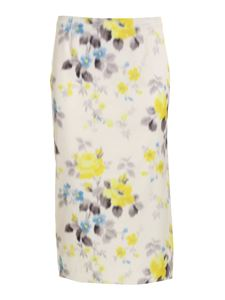 Blumarine - Floral skirt in white