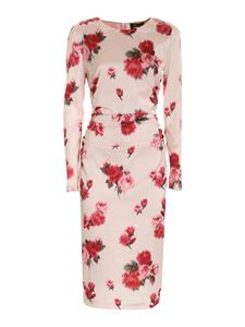 Blumarine - Printed satin dress in pink