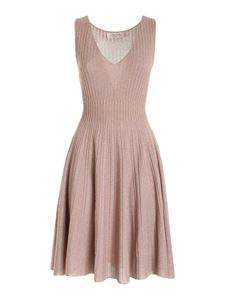 Blumarine - Lamé sleeveless dress in pink
