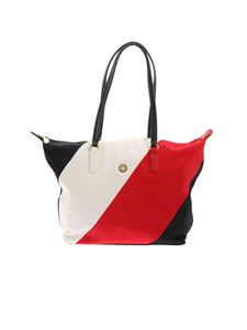 Tommy Hilfiger - Poppy Tote Stripes shopper bag in blue and white