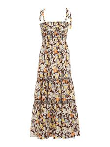 Tory Burch - Cotton blend floral dress in multicolor