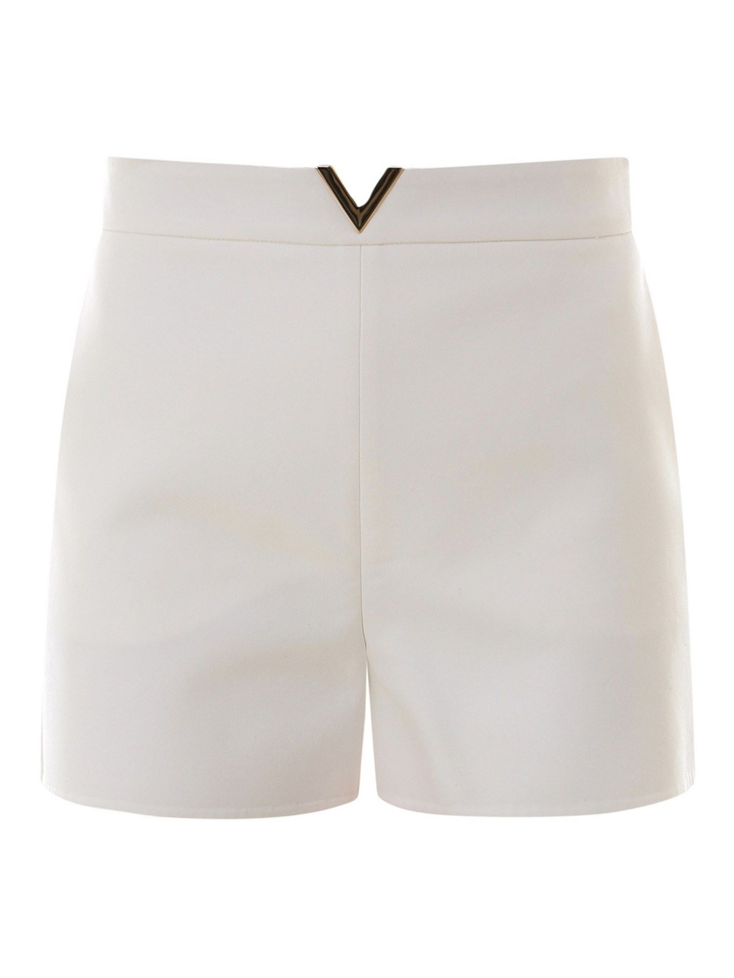 Valentino METAL DETAIL SHORTS IN WHITE