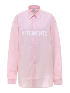 Vetements - Oversized logo shirt in pink