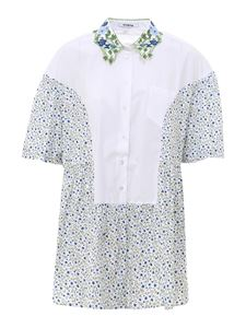 Vivetta - Cotton shirt with flowers in white