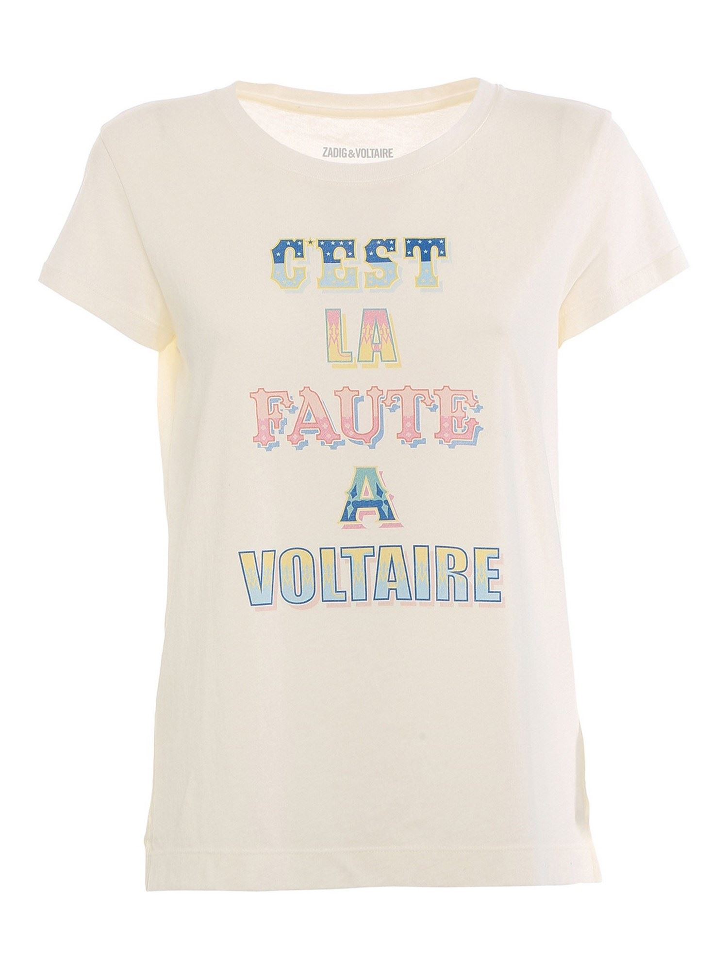 Zadig & Voltaire ALYS T-SHIRT IN WHITE